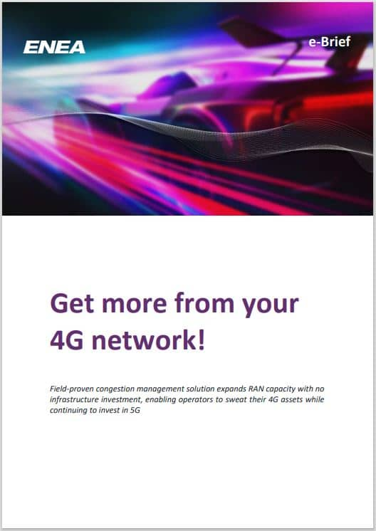 Get more from your 4G network e-brief cover
